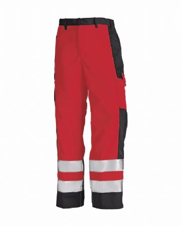 Blaklader 1583 High Visibility Trousers (Red/Black)